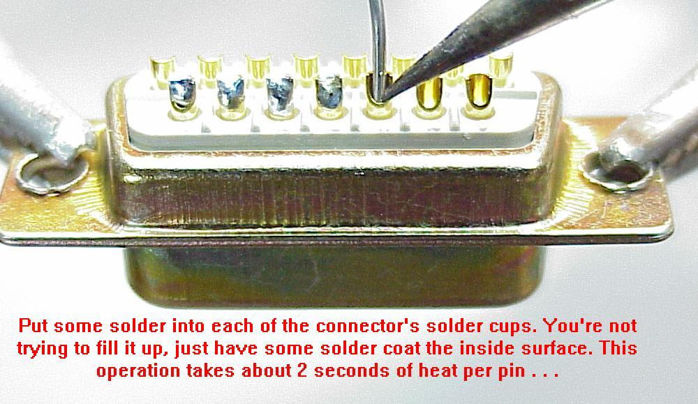 Solder cup pins